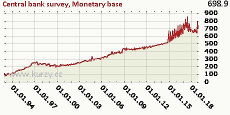 Monetary base,Central bank survey