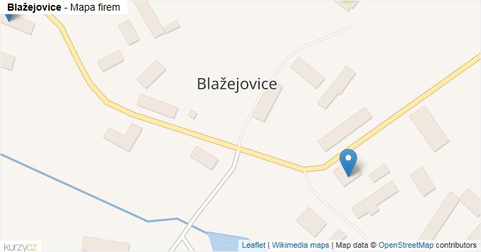 Blažejovice - mapa rozložení firem v obci.