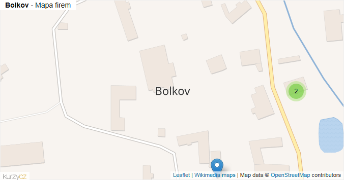 Bolkov - mapa rozložení firem v obci.