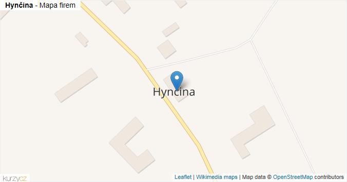 Hynčina - mapa rozložení firem v obci.