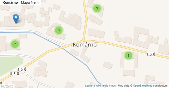 Komárno - mapa rozložení firem v obci.