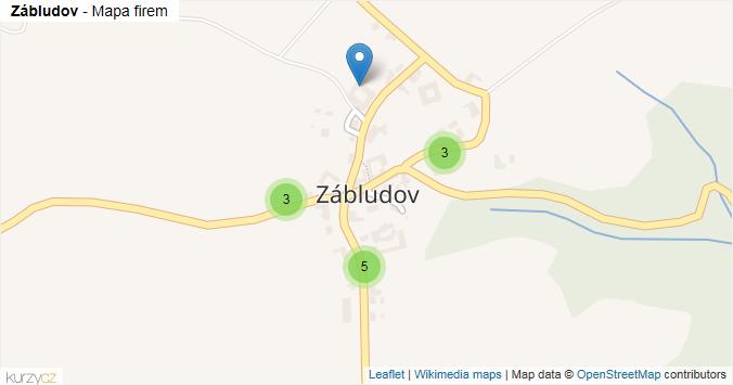 Zábludov - mapa rozložení firem v části obce.