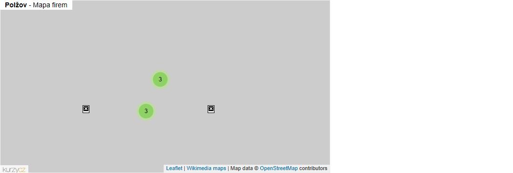 Polžov - mapa rozložení firem v části obce.