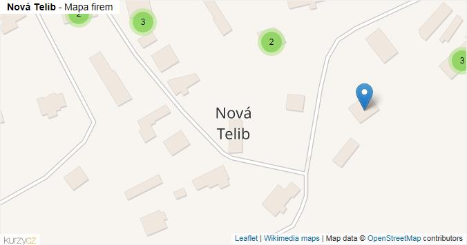 Nová Telib - mapa rozložení firem v obci.