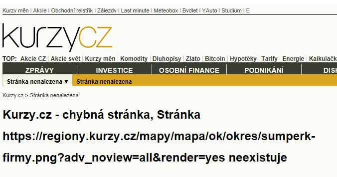 Šumperk - mapa rozložení firem v okrese.