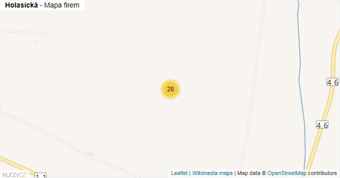 Holasická - mapa rozložení firem v ulici.