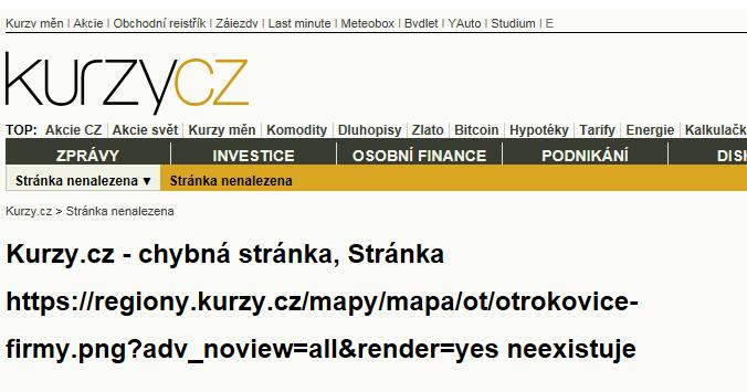 Otrokovice - mapa rozložení firem v obci.