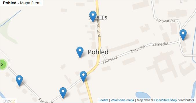 Pohled - mapa rozložení firem v obci.