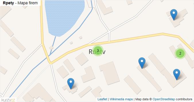 Rpety - mapa rozložení firem v obci.
