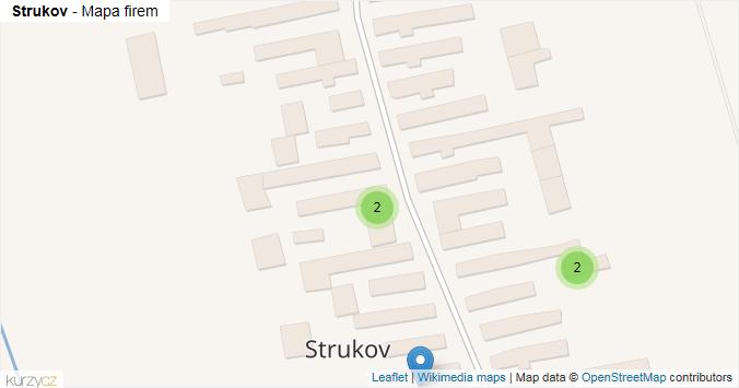 Strukov - mapa rozložení firem v obci.