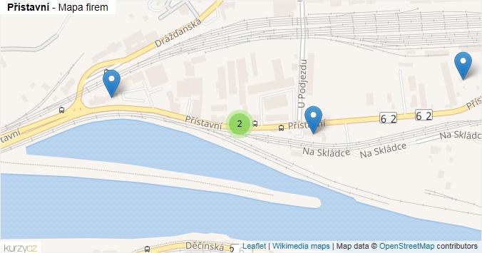 Přístavní - mapa rozložení firem v ulici.