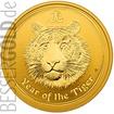 Zlatá mince 2 oz (trojské unce) ROK TYGRA Austrálie 2010