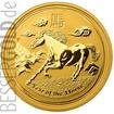 Zlatá mince 10 oz (trojských uncí) ROK KONĚ Austrálie 2014