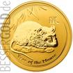 Zlatá mince 1/4 oz (trojské unce) ROK MYŠI Austrálie 2008