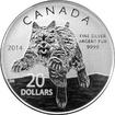 Stříbrná mince Rys červený 2014 Standard (.9999)