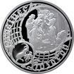 Postříbřená medaile Staroměstský orloj - Kozoroh 2016 Proof