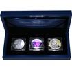 Majestic Silver Treasures Sada stříbrných mincí 2015 Ultrafialové osvícení Proof