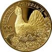 Zlatá mince Tetřev hlušec 2015 Proof