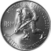 Stříbrná mince 100 Kčs Mistrovství světa v ledním hokeji 1985