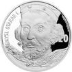Stříbrná medaile s motivem 20 Kč bankovky - Přemysl Otakar I. 2017 Proof