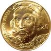 Zlatá kilová investiční medaile s motivem 20 Kč bankovky - Přemysl Otakar I. 2017 Standard