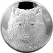 Stříbrná mince 1 Kg Očima vlka šedého 2017 Proof