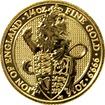 Zlatá investiční mince The Queen's Beasts The Lion 1/4 Oz 2016