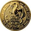 Zlatá investiční mince The Queen's Beasts Red Dragon 1 Oz 2017