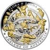 Stříbrná mince 5 Oz Flora a Fauna Emblems of Australia 2017 Proof