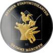 Stříbrná Ruthenium mince pozlacení Brémští muzikanti Golden Enigma 2017 Standard