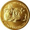 Zlatá 1/25 oz investiční mince Český lev 2017, číslo Standard