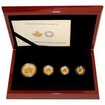 Maple Leaf Sada zlatých mincí 2014 Incuse Proof