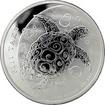 Stříbrná investiční mince Fiji Taku Hawksbill Turtle - Kareta pravá 5 Oz