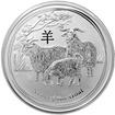 Stříbrná investiční mince Year of the Goat Rok Kozy Lunární 5 Oz 2015