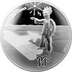 Stříbrná mince Malý princ: Hvězdy jsou průvodci 2015 Proof