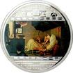 Stříbrná mince 3 Oz Chudý básník Carl Spitzweg 2009 Krystaly Proof