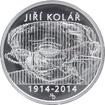 Stříbrná mince 500 Kč Jiří Kolář 100. výročí narození 2014 Standard