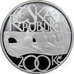 Stříbrná mince 200 Kč Položení základního kamene Karlova mostu 650. výročí 2007 Proof