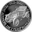Stříbrná mince 200 Kč Výroba prvního automobilu v Mladé Boleslavi 100. výročí 2005 Proof