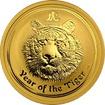 Zlatá investiční mince Year of the Tiger Rok Tygra Lunární 1/2 Oz 2010