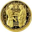 Zlatá půluncová medaile Jan Lucemburský 2010 Proof