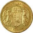 Zlatá mince Desetikoruna Františka Josefa I. Uherská ražba 1901