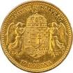 Zlatá mince Desetikoruna Františka Josefa I. Uherská ražba 1892