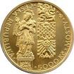 Zlatá mince 5000 Kč Gotický most v Písku 2011 Standard