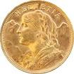 Zlatá mince 20 Frank Helvetia Vreneli 1935 LB