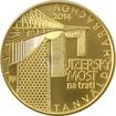 Zlatá mince 5000 Kč Jizerský Viadukt na trati Tanvald - Harrachov 2014 Standard