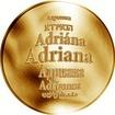 Česká jména - Adriana - zlatá medaile