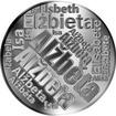 Česká jména - Alžběta - velká stříbrná medaile 1 Oz
