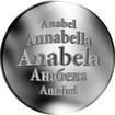 Slovenská jména - Anabela - stříbrná medaile
