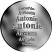Česká jména - Antonie - velká stříbrná medaile 1 Oz